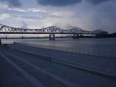 Over the Ohio River, from the Kentucky side, by Karen Davis.
