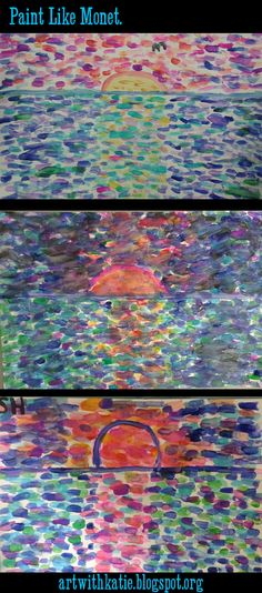 We've been learning about Claude Monet and the impressionist in my Artist Studio class this week, and I was super impressed with my s...