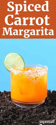 This spicy, savory take on a classic Margarita is made with carrot juice, cardamom syrup and blanco tequila, infused with both long red chilies (for color and flavor) and Thai bird's eye chilies (for a hellfire heat)—plus a homemade carrot salt for an extra pop of color.