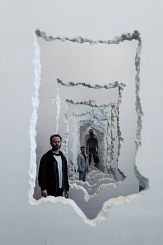 Installation Art by Daniel ArshamDaniel Arsham's work is visceral and yet minimal. All in white it breaks through and comes through walls. Ghostly sculptures push through walls, while the person shaped holes hint at ghosts that broke through. In an...