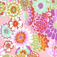 Kaffe Fassett Fabric Asian Circle Pink