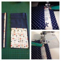 Fazer uma costura de acabamento como mostra a foto.