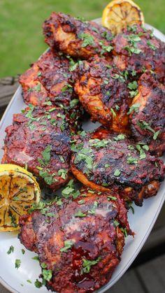 Grilled Chicken Thighs, Chicken Steak, Chicken Thigh Recipes, Chicken Chili, Braai Recipes, Dinner Recipes, Cooking Recipes, Healthy Recipes, Delicious Recipes