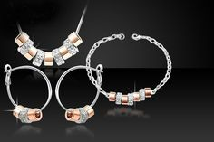 Swarovski Elements Pave Tri Set