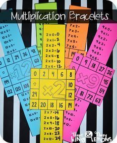 These multiplication fact bracelets will help your students master those facts and also encourage skip counting to multiply! Multiplication Activities, Math Worksheets, Math Resources, Numeracy, Math Fractions, Memorizing Multiplication Facts, Division Activities, Math Rotations, Math Strategies