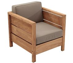 QUEBEC teak and polyester wood armchair Wood Furniture Legs, Wood Arm Chair, Wood Sofa, Ikea Furniture, Furniture Design, Outdoor Furniture, Teak Wood, Wooden Sofa Set Designs, Palette Furniture
