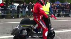 You read the title right. Vespa Drag Racing!!! Decked out in what appears to be full Moto GP gear, all we can do is laugh, but these are fast… for aVespa! Vespa Drag Racing at its finest right here. It is really quite cute if you ask us. 2 Stroke Heaven Below! Watch all the […]
