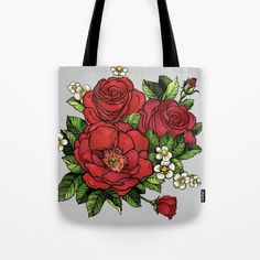 Wild Roses Tote Bag by Salome | Society6