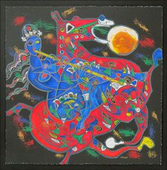 Tiefeng Jiang (CHINESE/AMERICAN, B. 1938) Freedom Suite : Lot 134-6183 #jiang #chinese #serigraph