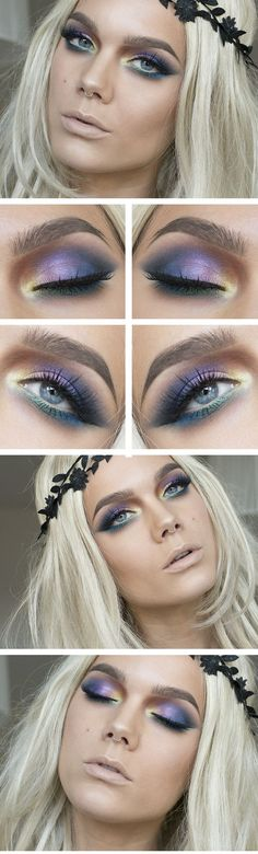 Makeup Idea 2017/ 2018      Todays look – Color bomb  Discovred by : It's All About Makeups  #MakeUp