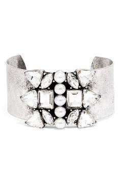 elsa crystal cuff bracelet