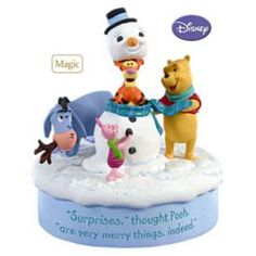 2009 WINNIE THE POOH - SNOWMAN SURPRISE HALLMARK ORNAMENTS