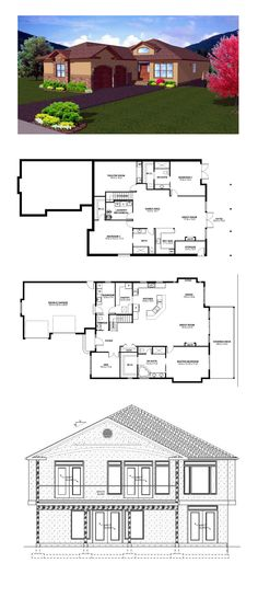 Sims 3 Constrain Floor Elevation Garage : Images about hillside home plans on pinterest