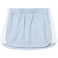 Thakoon Addition Denim Mini Skirt (3.904.950 VND) ❤ liked on Polyvore featuring skirts, mini skirts, bottoms, shorts, saias, short mini skirts, short skirts, blue denim skirt, short blue skirt and thakoon addition skirt