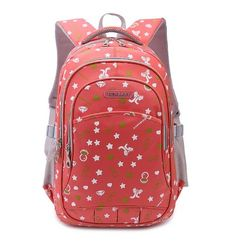 Candy Color Primary School Backpack for Female Embroidered Red  - Click image twice for more info - See a larger selection of Girls teen  backpacks at http://kidsbackpackstore.com/product-category/girls-teen-backpacks/- kids, juniors, back to school, kids fashion ideas, teens fashion ideas,  school supplies, backpack, bag , teenagers,  boys, gift ideas