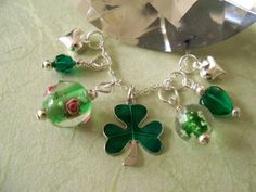 Irish Charm Necklace Shamrock Sterling Beau by morningstarworks, $32.00