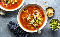 Do a quick prep in the morning and come home to a ready-to-eat chicken tortilla soup.