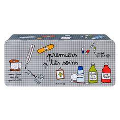 Boite mes premiers petits soins Derrière la porte http://www.deco-et-saveurs.com/amoire-pharmacie/2370-boite-pharmacie-petits-soins-derriere-la-porte-3662034009670.html