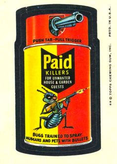 Paid Killers Wacky Packages 8th Series (1974)