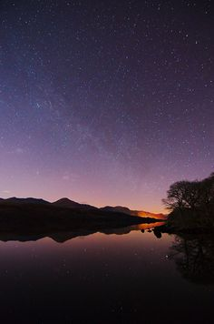 Coniston Water, Cumbria, under the Milky Way. Photo by Mark Airey.