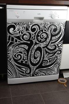 Spülmaschienen Design <3 aus einem qm schwarzmatter SK-Folie