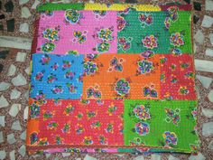 Kantha Quilt Quilted BedspreadsThrowsRalliGudari by Labhanshi, $70.00