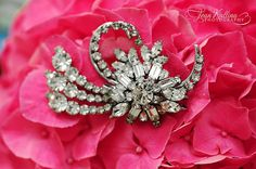 Love Rhinestone Broaches