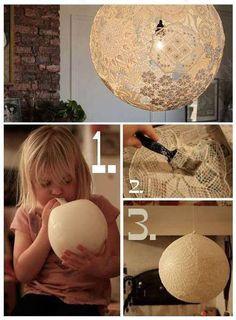 DIY Lacy Lamp