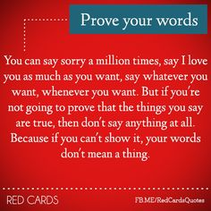 Prove Your words