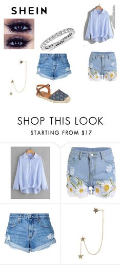 """""""shein basic chic"""" by sahrinaerobson24 ❤ liked on Polyvore featuring Nobody Denim, Zimmermann and Blue Nile"""