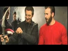 Chris Evans & Jeremy Renner Interview with Mini Thor ***TOO CUTE!!!***
