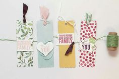 Painted Blooms Bookmarks