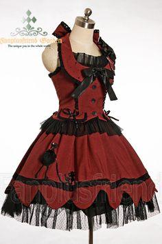 Gothic Lolita Exquisite Rhinestone Gauze Outfit