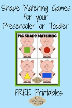 Matching Games Free Printable Matching Games for Toddlers and Preschoolers Free Printable Matching Games for Toddlers and Preschoolers Math Activities For Kids, Printable Activities For Kids, Preschool Games, Free Preschool, Free Printables, Indoor Activities, Math Games, Folder Games For Toddlers, Matching Games For Toddlers
