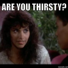 """Are You Thirsty?"" - #Laura Charles to #BruceLeroy in #TheLastDragon"