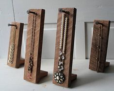 Rustic jewelry display - ONE Rustic Necklace Display Single Necklace Holder Necklace Storage Solid Rough Cut Walnut with Numbered Nail – Rustic jewelry display Jewelry Booth, Wood Jewelry Display, Bracelet Display, Rustic Jewelry, Jewelry Stand, Jewelry Armoire, Jewellery Display, Antique Jewelry, Boutique Jewelry Display