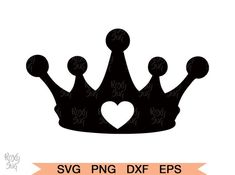 Pin on Products Clipart Black And White, Black White Art, Crown Stencil, Crown Silhouette, Laser Cutter Projects, Card Tattoo, Tumbler Designs, Cutting Files, Vinyl Decals