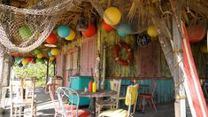 Amazing detailed shots of the set from Teen Beach Movie. Tons of inspiration for a party.