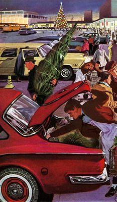 christmas shopping 1960 @@@@.....http://www.pinterest.com/reen79/art-i-wish-i-owned/