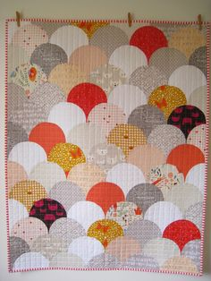 Glam clam quilt (links to free tutorial)