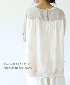 【楽天市場】【再入荷♪9月7日12時&22時より】「sanpo」ラベンダー刺繍のポケットトップス:cawaii