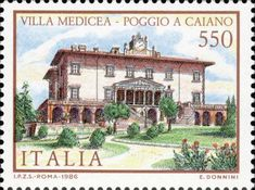 1986 - Ville d'Italia: Villa Medicea a Poggio Caniano (Toscana)