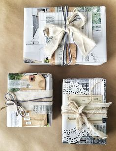 Eco-Friendly Holiday Gift Wrap by Guest Artist Vanessa Spencer