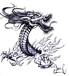 Top Japanese Dragon Tattoo Flash Images for Pinterest Tattoos