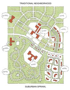 Traditional Neighborhood Design v. Sprawl