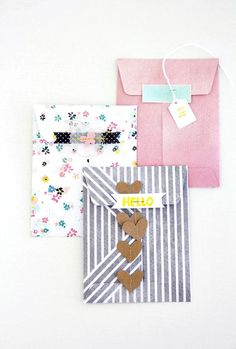 gift bags with decorations. via dear lizzy