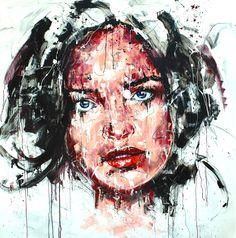 T216 Acrylique & fusain sur toile 150x150cm http://www.lucile.callegari.fr
