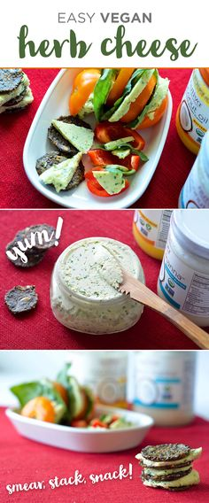 EASY VEGAN HERB CHEESE with Nutiva Buttery Coconut Oil and Coconut Manna
