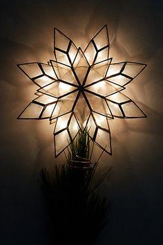 Capiz Star Tree Topper anthroplogie.com #anthroregistry #christmas