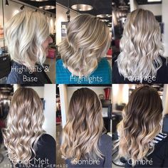 """5,188 Likes, 36 Comments - American Salon (@american_salon) on Instagram: """"This is fantastic! 🙌🏼Thank you for sharing @the_balayage_mermaid ❤️❤️ Blonde options 👇🏼👇🏼👇🏼👇🏼 """"1.…"""""""